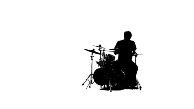 silhouette of a drummer - trumset bildbanksvideor och videomaterial från bakom kulisserna