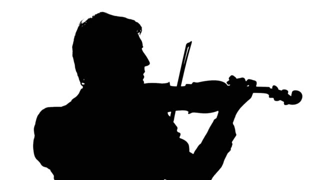 HD: Silhouette Of A Violinist