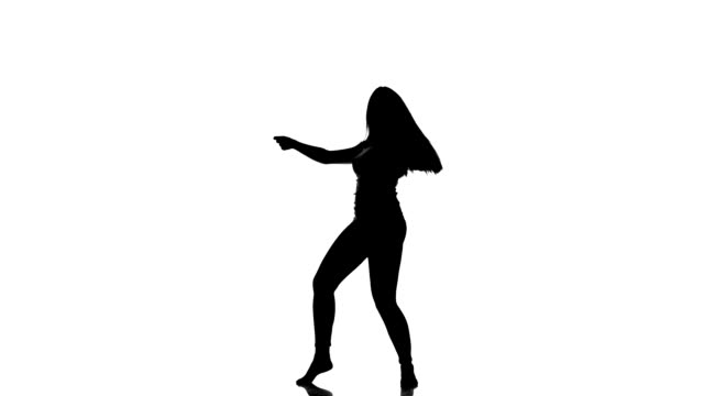 HD VIDEO: Silhouette of a young dancing girl video