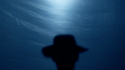 vidéos et rushes de silhouette du shérif brave far west, son chapeau de gangster avant duel de basculement - chapeau