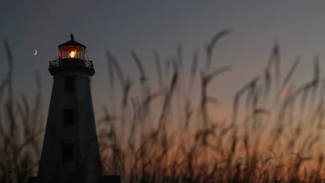 Silhouette of Lighthouse At Dusk video