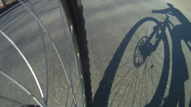Silhouette of man on Mountain Bike video