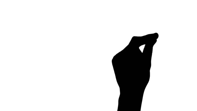 Silhouette of man snapping hand. Isolated on white background Silhouette of man snapping hand. Isolated on white background snapping stock videos & royalty-free footage