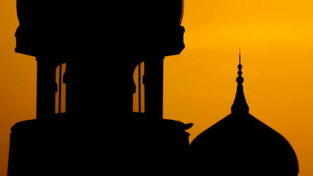 Silhouette of mosque video