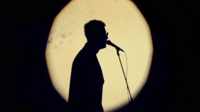 silhouette of the singer - cantante video stock e b–roll