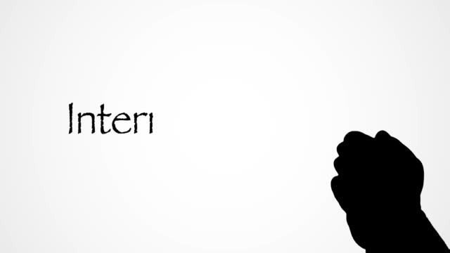 Silhouette persons hand over internet marketing Writing animation white background A silhouette persons hand over internet marketing Writing animation on white background. Animation marketing writing on paper with a silhouette persons hand slowly moves over the golden paper. homepage stock videos & royalty-free footage