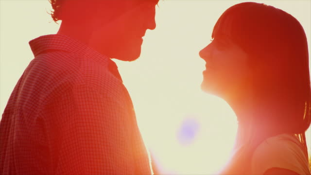 Silhouetted Kiss video
