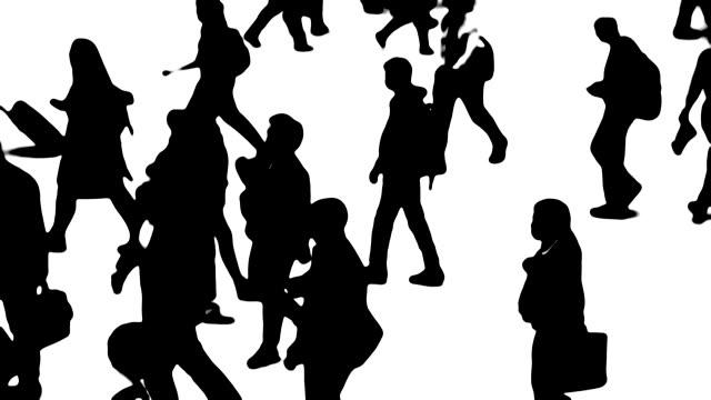 Silhouetten von Stadtmenschen in Bewegung – Video