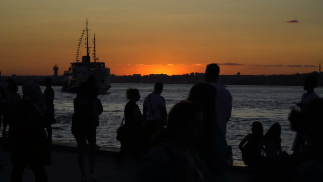 Silhouettes Of The People at Kadikoy video