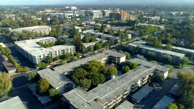 Silicon Valley Aerial views on Mountain View and Palo Alto, California california stock videos & royalty-free footage