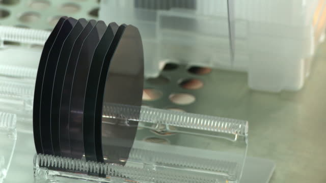 Silicon Wafers Detail - 2 clips video