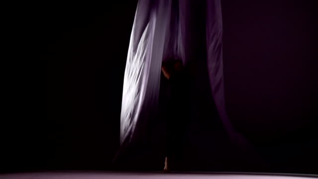 silk dance run - gympingdräkt bildbanksvideor och videomaterial från bakom kulisserna