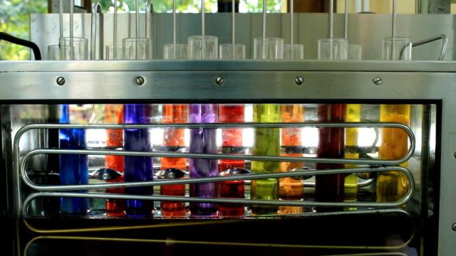 vídeos de stock e filmes b-roll de seda tingimento máquina. - matéria corante