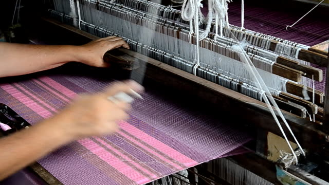 Silk weaving, Handlooms. video