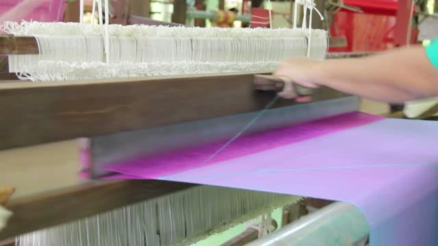 Silk weaving video