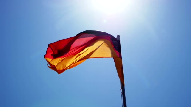 Silky flag of Germany flying in the wind video