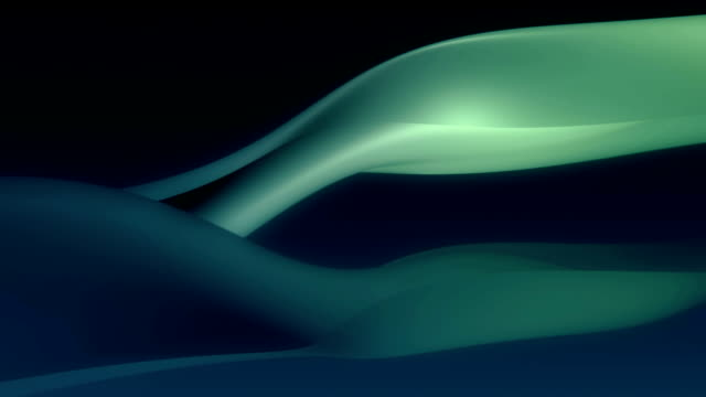 Silky smooth green and blue liquid ripples video
