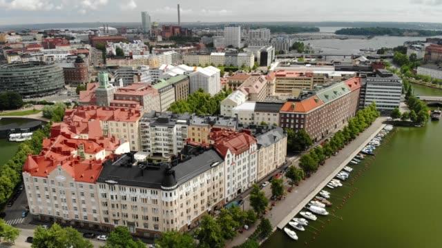 siltasaari stadsdel i helsingfors - drone helsinki bildbanksvideor och videomaterial från bakom kulisserna