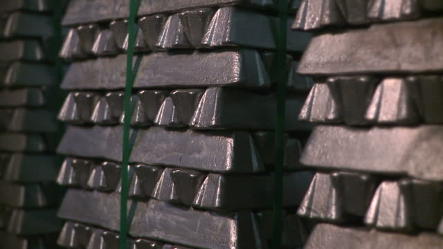 Silver bars A pile of silver bars silver metal stock videos & royalty-free footage