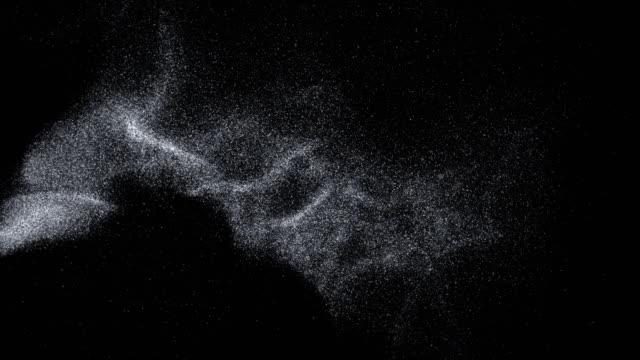 Silver Flying on Black Background - 4K Resolution