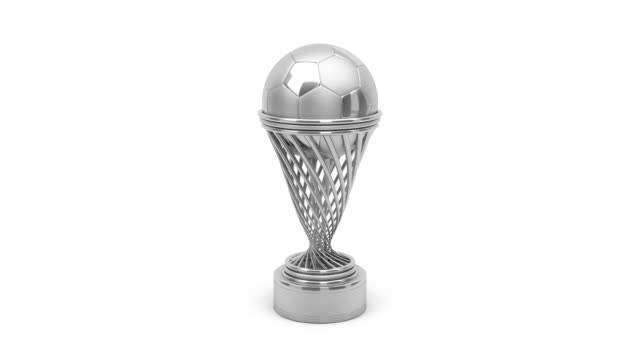 Silver football trophy video