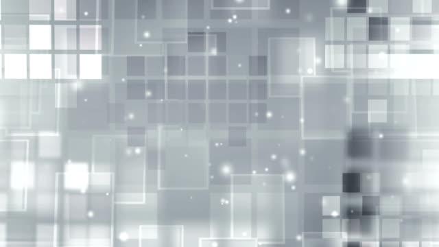silver rozjarzony bloków-loop z cząstek - klocek filmów i materiałów b-roll
