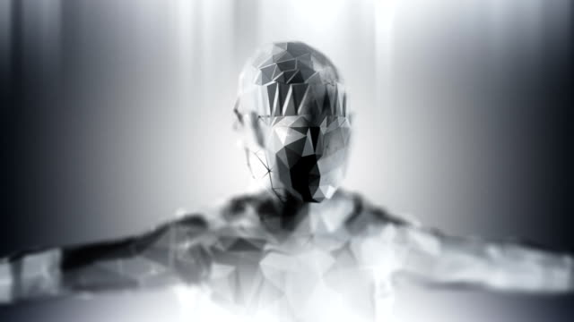 Silver loopable artificial inteligence background Silver loopable artificial inteligence background cyborg stock videos & royalty-free footage