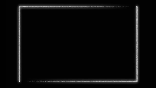 Silver neon frame border background with glowing lines - video animation