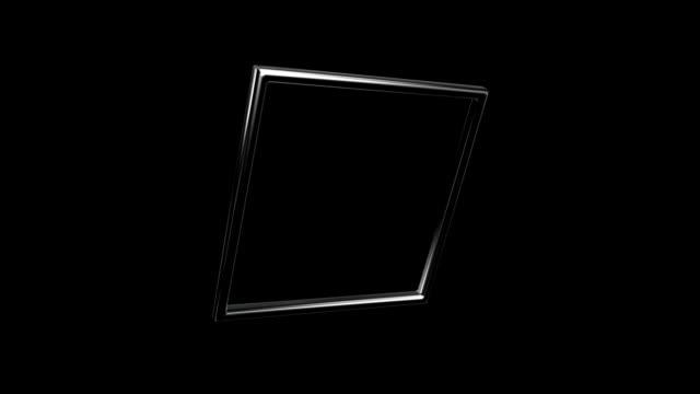 silver square rotation 45 degree angle video