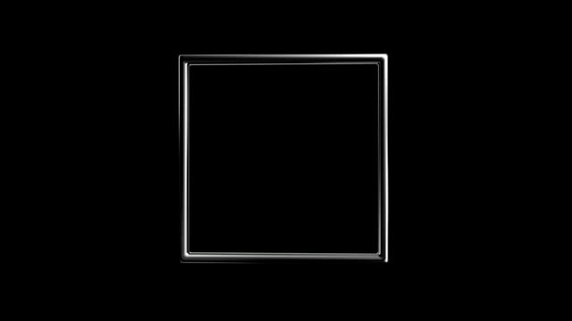 silver square turning around hd video