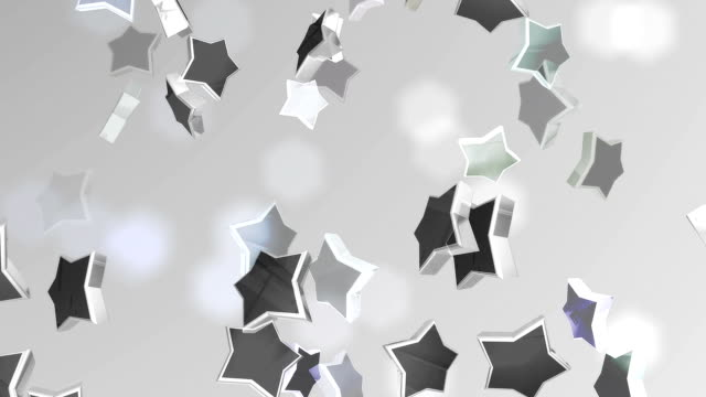 Plata fondo de estrellas (en bucle) - vídeo
