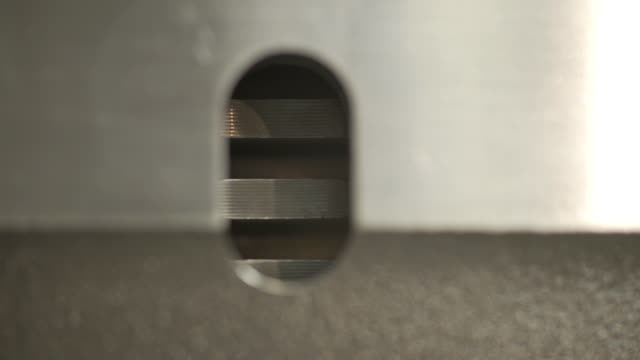 silver steel gears makro closeup. - lega metallica video stock e b–roll