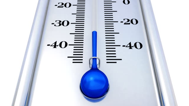 Silver thermometer with rising temperature