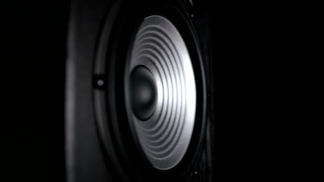A Silver Vibrating Working Subwoofer video