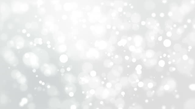 Silver white bokeh background with flickering lights video
