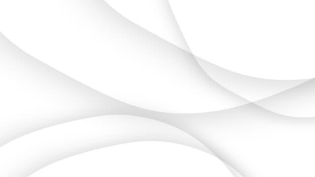 einfache abstrakte weiße wellige trendige schöne weiße kurve hintergrund - geometrische form stock-videos und b-roll-filmmaterial