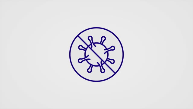 Simple animated line-art icons for Covid-19 disease symptoms and preventions A set of animated line art icons for Coronavirus (2019-nCoV) disease symptoms and preventions, on a grey background. covid icon stock videos & royalty-free footage