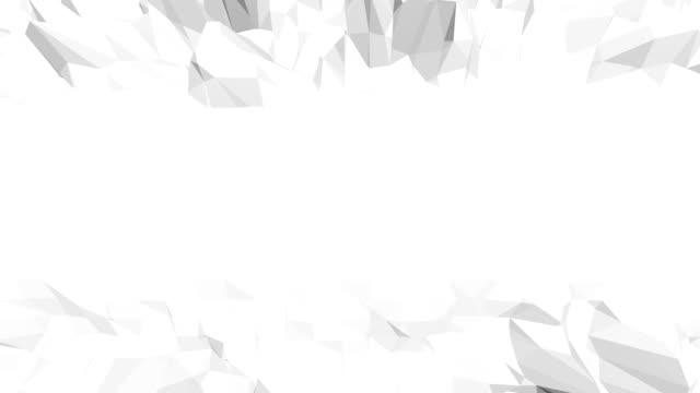 vídeos y material grabado en eventos de stock de simple blanco y negro poli baja agitando - descarga eléctrica