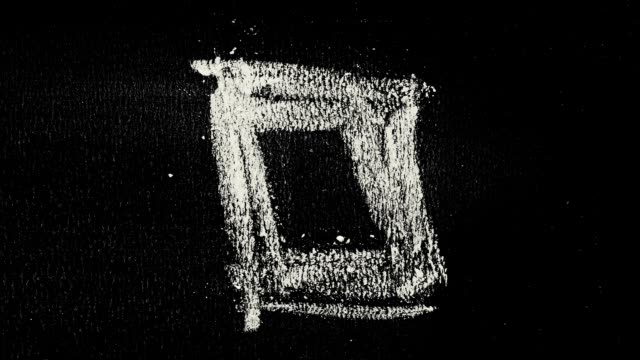 Simple chalk shapes on school blackboard Short loopable stop motion sketch short length stock videos & royalty-free footage