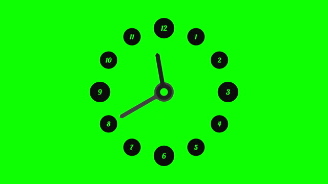 simple clock for keying video