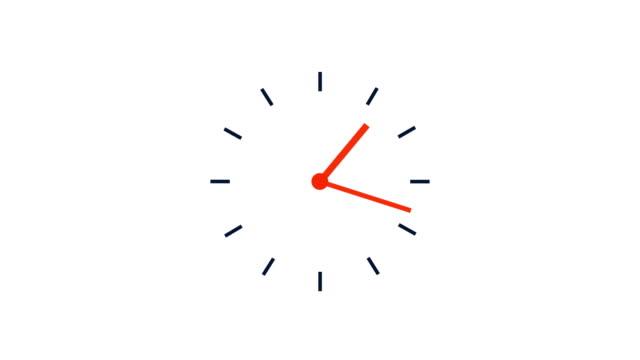 シンプルなクロックループ、12時間4kタイムラプスビデオ - 時計点の映像素材/bロール