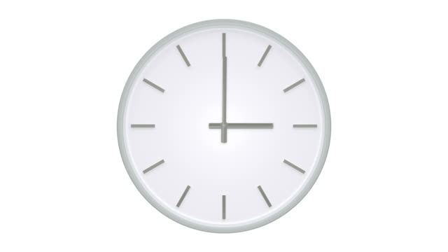 simple clock without numbers shows passing time. - 20 24 anni video stock e b–roll
