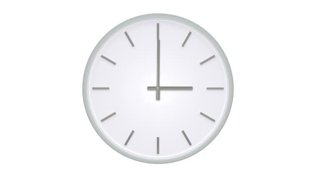 vídeos de stock, filmes e b-roll de simples relógio sem números mostra o passar do tempo. - 20 24 anos