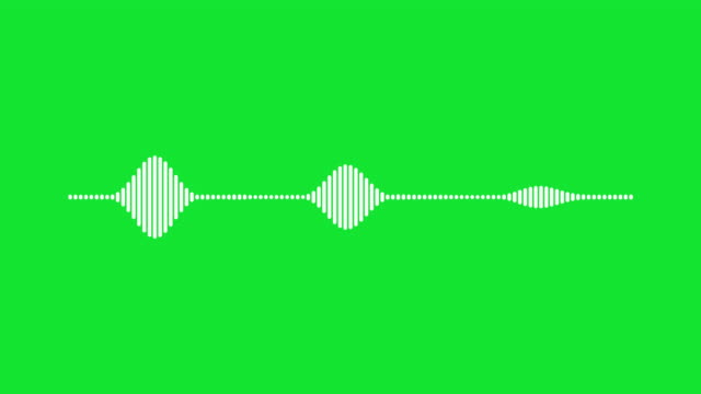4K Simple equalizer on green background. Motion graphic and animation background. video
