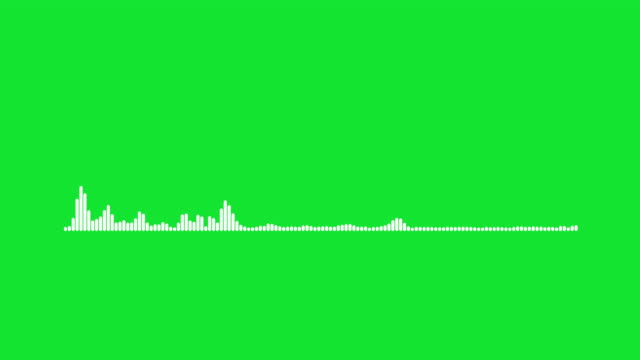 4K Simple equalizer on green background. Motion graphic and animation background.