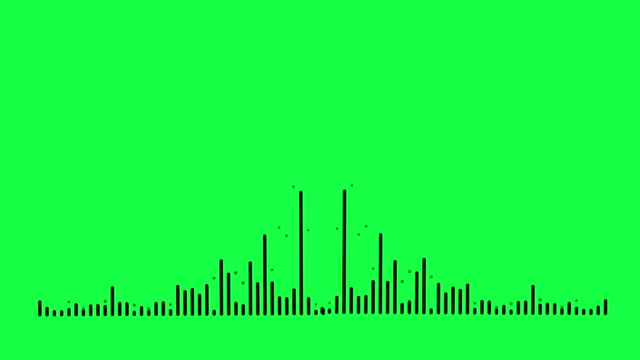 4K Simple equalizer on green screen background. Motion graphic and animation background. video