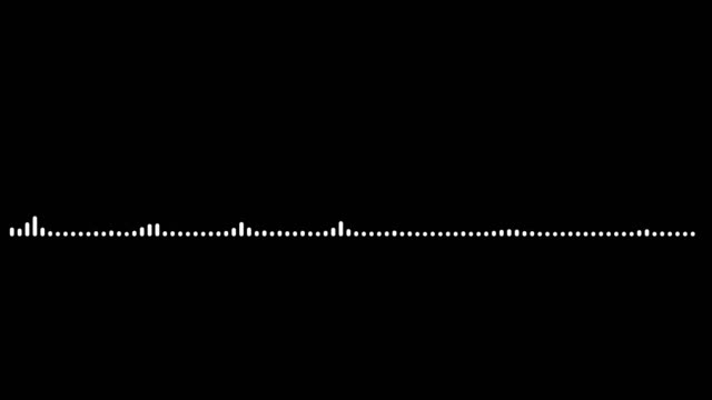 4K Simple equalizer white on black background. Motion graphic and animation background.
