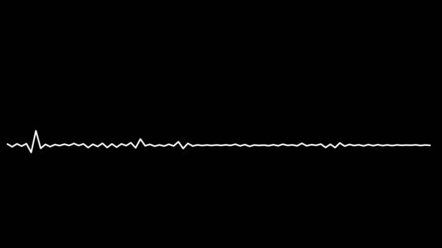 4k simple equalizer white on black background. motion graphic and animation background. - attrezzatura per la musica video stock e b–roll