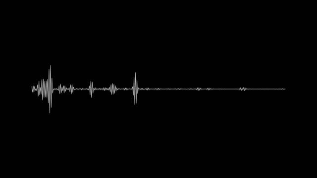 黒の背景に4kシンプルなイコライザーホワイト。モーション グラフィックとアニメーションの背景 - 音波点の映像素材/bロール