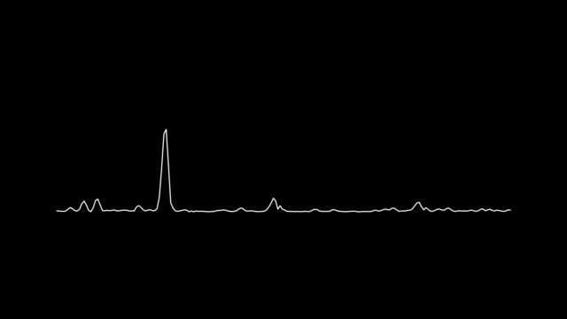4K Simple equalizer white on black background. Motion graphic and animation background. video